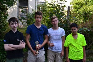 v.li.: Felix, Julian, David Muthuraja