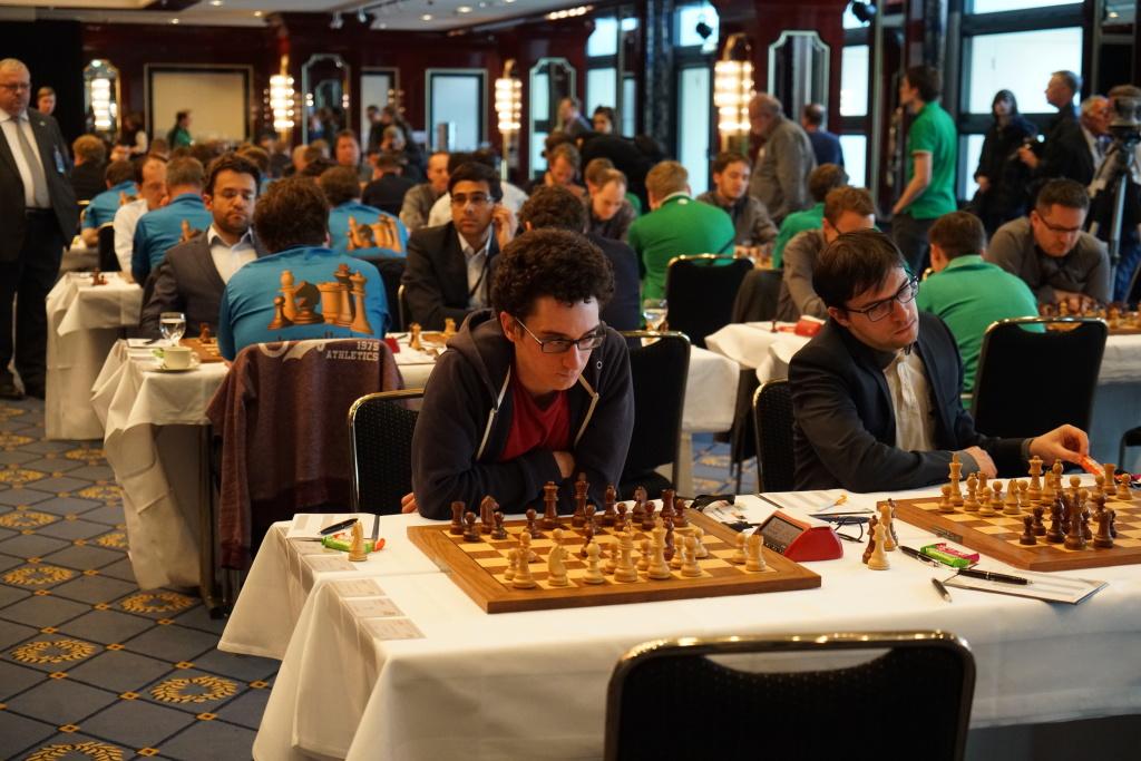 Die Weltranglisten-Nachbarn (4/5): Fabiano Caruana (l.), Maxime Vachier-Lagrave